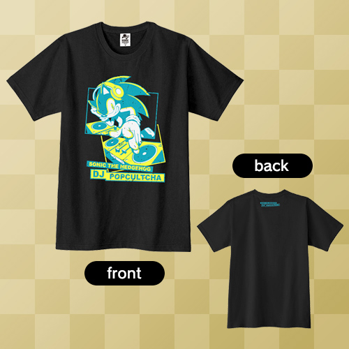 「SONIC THE HEDGEHOG DJ POPCULTCHA」Tシャツ